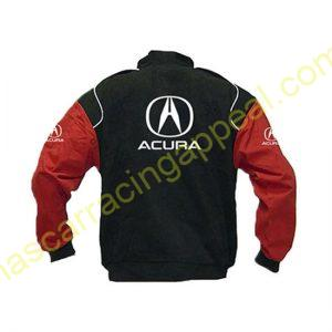 Acura Racing Jacket Black and Red back
