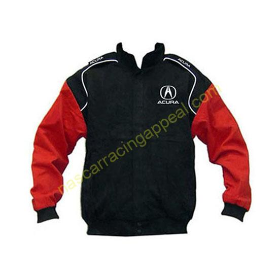Acura Racing Jacket Black and Red front