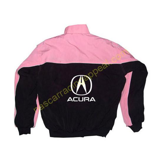 Acura Racing Jacket Pink and Black back