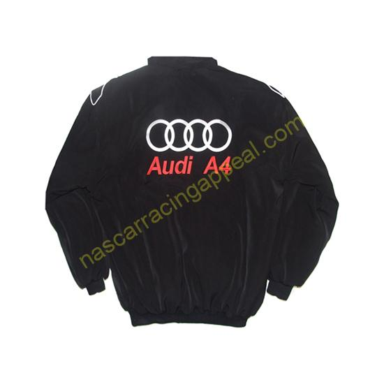 Audi A4 Racing Jacket Black back