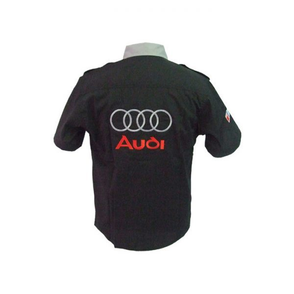 Audi Crew Shirt Black and Light Gray back