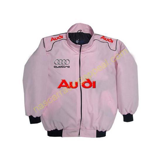 Audi Quattro Racing Jacket Pink front