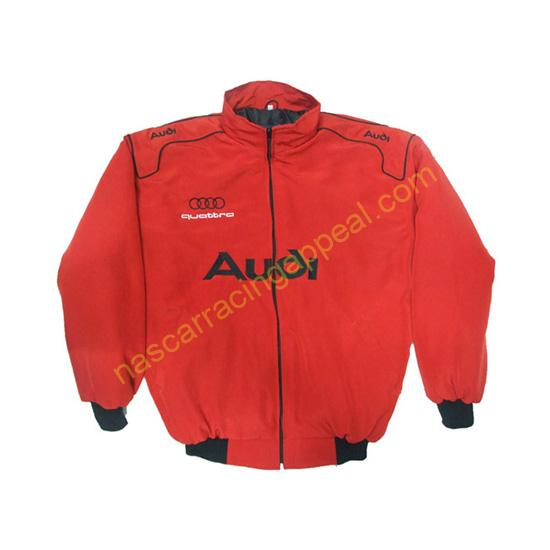 Audi Quattro Racing Jacket Red front