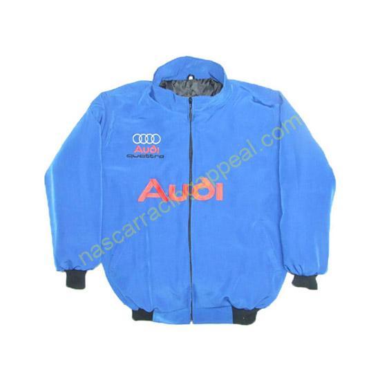Audi Quattro Racing Jacket Royal Blue front