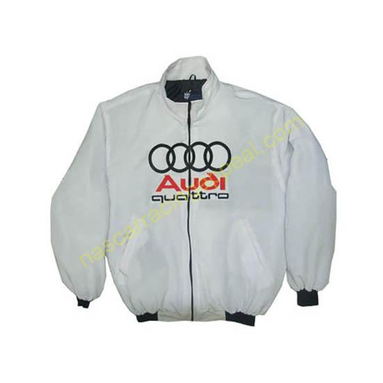 Audi Quattro Racing Jacket White front