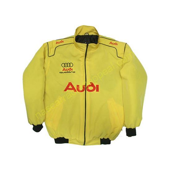 Audi Quattro Racing Jacket Yellow front
