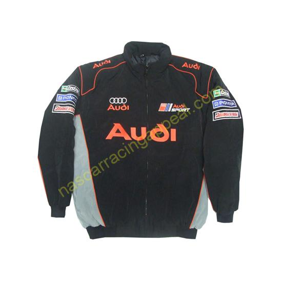 Audi Sport Black and Gray Jacket front