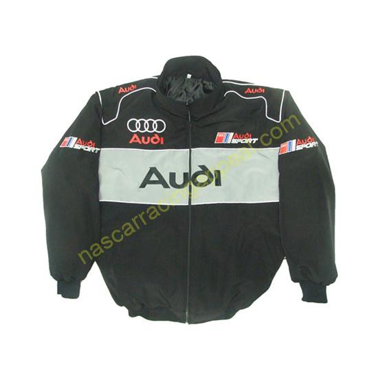 Audi Sport Racing Jacket Black and Light Gray front