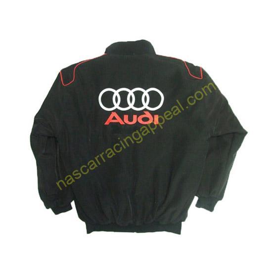 Audi Sport Racing Jacket Black and Royal Blue back
