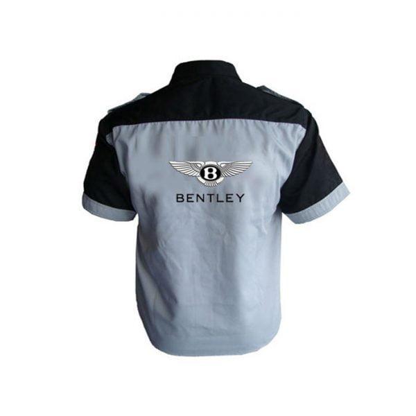 Bentley Crew Shirt Light Gray and Black