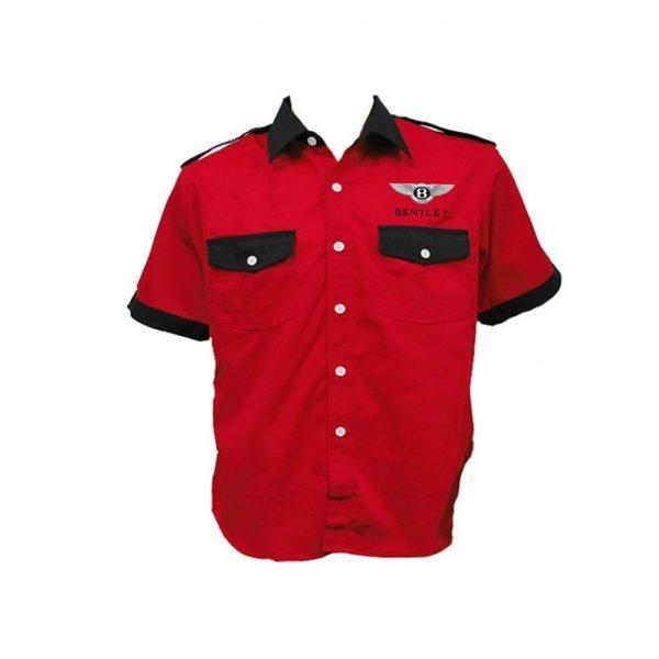Bentley Crew Shirt Red and Black