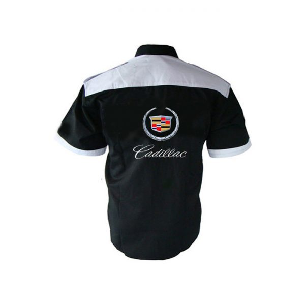 Cadillac Crew Shirt Black And White Nascarracingappeal