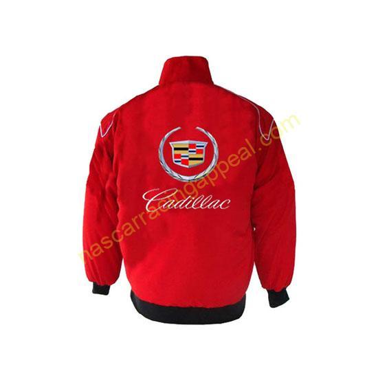 Cadillac Racing Jacket Red back