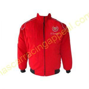 Cadillac Racing Jacket Red back