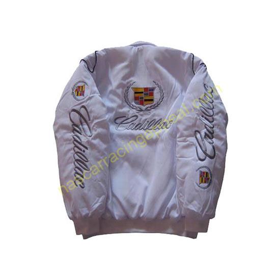 Cadillac Racing Jacket White back