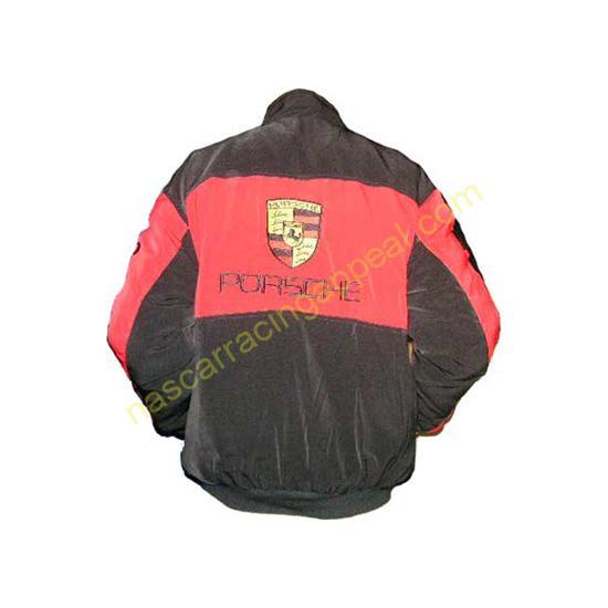 Porsche Racing Jacket Red and Black
