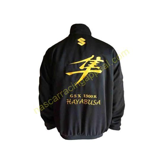 Suzuki GSX Hayabusa Black Motorcycle Jacket