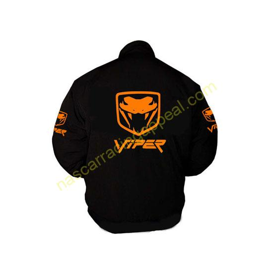 Viper Fangs Jacket Black with Orange Embroidery