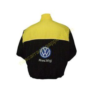 Volkswagen Black Yellow Racing Jacket