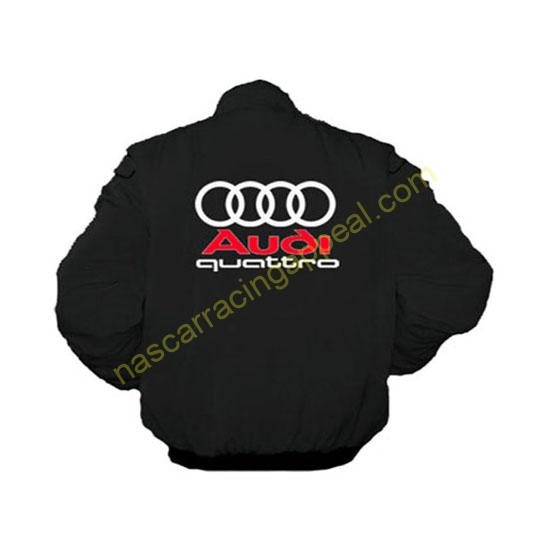 Audi quattro black jacket back