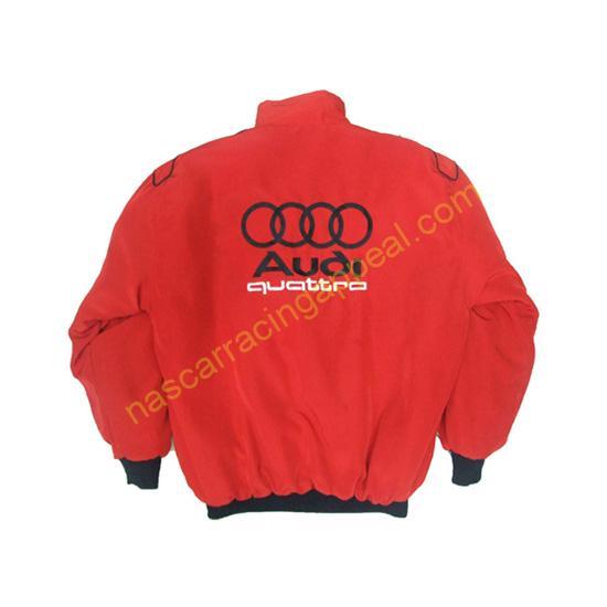 Audi Quattro Racing Jacket Red back