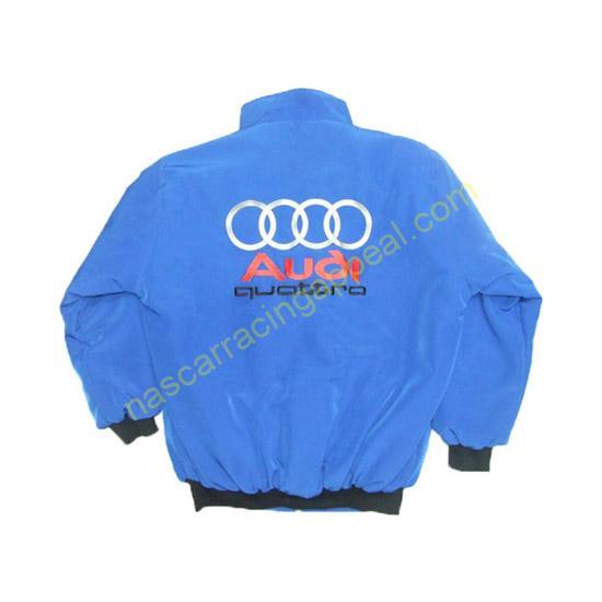 Audi Quattro Racing Jacket Royal Blue back