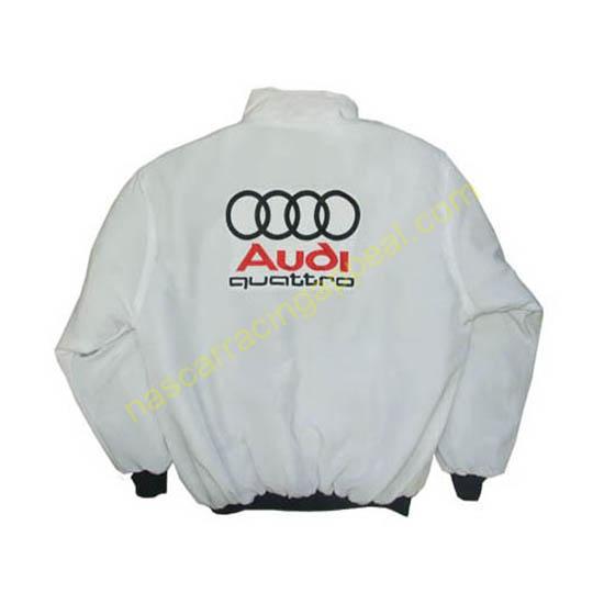 Audi Quattro Racing Jacket White back