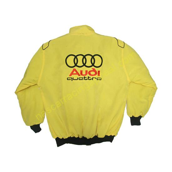 Audi Quattro Racing Jacket Yellow back