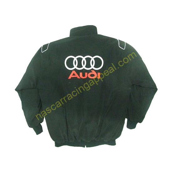 Audi Sport Racing Jacket Black and Light Gray back