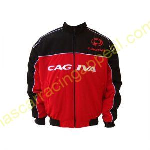 Cagiva Motorcycle Jacket Black and Red back