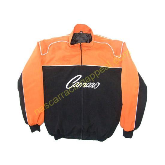 Chevrolet Camaro Racing Jacket Orange and Black