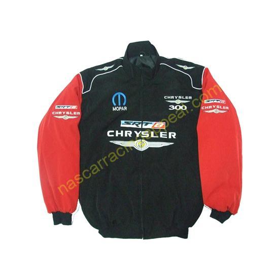 Chrysler 300 Mopar SRT8 Black Red Racing Jacket