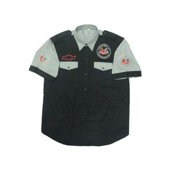 Corvette C1 Crew Shirt Black