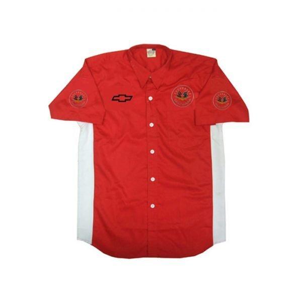 Corvette C1 Crew Shirt Red and White