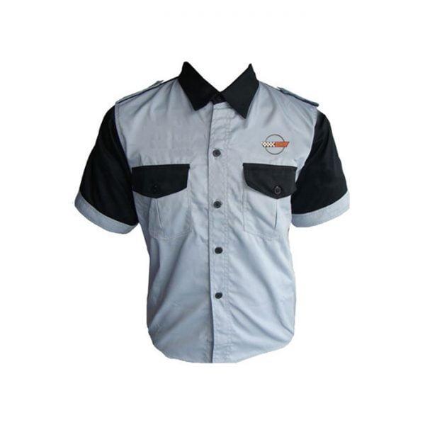 Corvette C5 Crew Shirt Light Gray