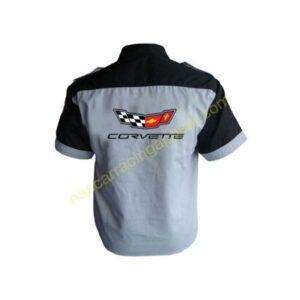 Corvette C7 Crew Shirt Light Gray