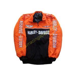 Harley Davidson Motorcycle Jacket Orange