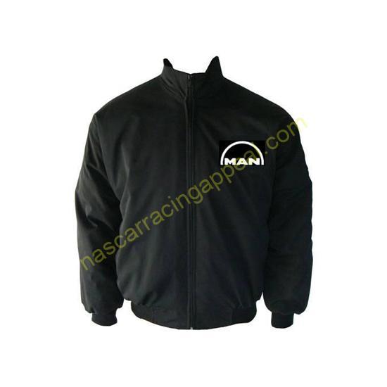 Man Racing Jacket Black