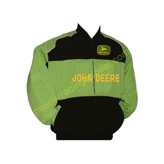 John Deere Jacket Black and Light Green