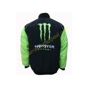Kawasaki Energy Motorcycle Jacket Black and Green