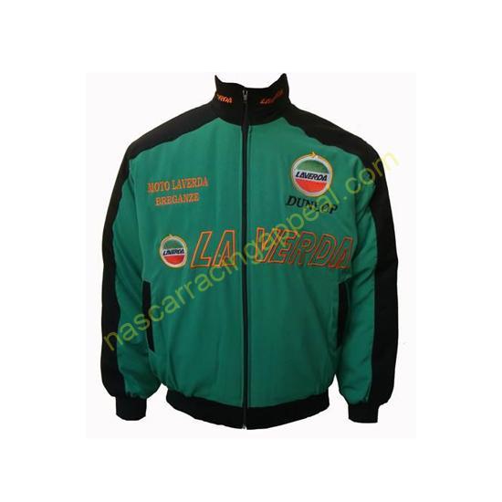 Laverda Motorcycle Jacket Black and Green