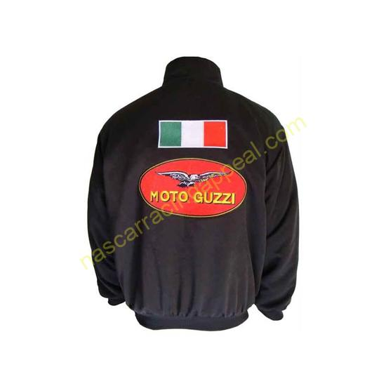 Moto Guzzi Italian Flag Motorcycle Jacket Black