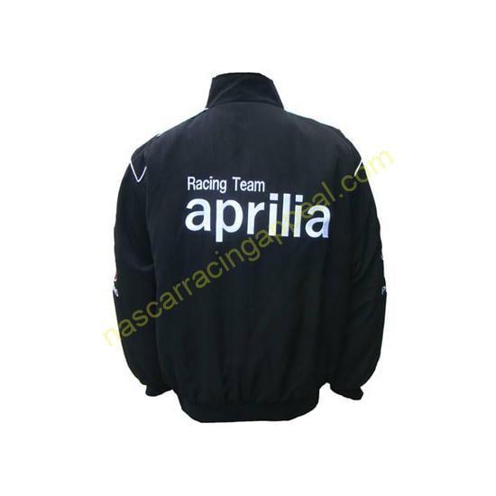 Aprilia Racing Team Black Embroidered Jacket