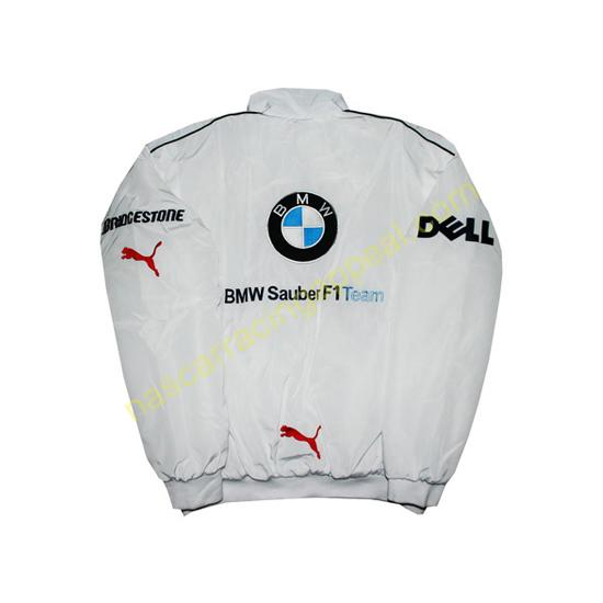 BMW Petronas Dell White and Blue Jacket
