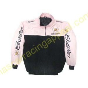 Cadillac Racing Jacket Light Pink and Black