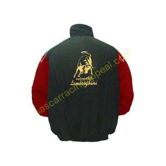 Lamborghini Racing Jacket Black and Red