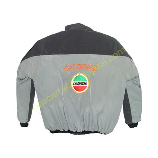 Laverda Motorcycle Jacket Dark Gray and Light Gray