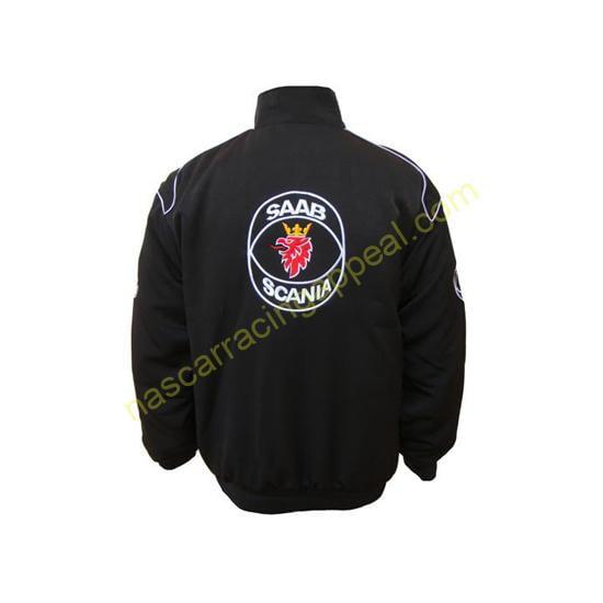 Saab Scania Black Racing Jacket Coat