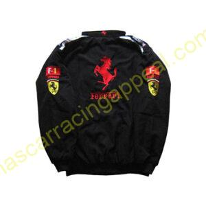 Ferrari Racing F1 Jacket Black with Red Trim