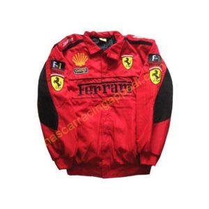 Ferrari Racing F1 Jacket Red with Black Trim